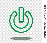 power switch start icon vector... | Shutterstock .eps vector #696479188