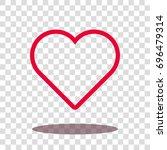 heart icon   love icon  ...   Shutterstock .eps vector #696479314