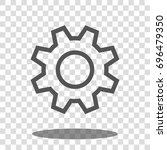 cogwheel gear settings icon... | Shutterstock .eps vector #696479350