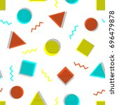 abstract memphis style seamless ... | Shutterstock .eps vector #696479878