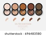 cream eyeshadow set  online... | Shutterstock .eps vector #696483580