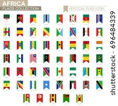 vertical flag icon of africa.... | Shutterstock .eps vector #696484339