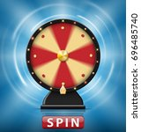 realistic 3d spinning fortune... | Shutterstock .eps vector #696485740