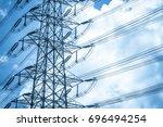 green energy concept ... | Shutterstock . vector #696494254