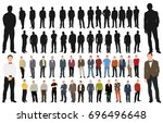 collection of silhouettes | Shutterstock .eps vector #696496648