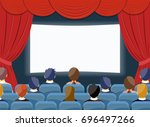 cinema watch movie theater... | Shutterstock .eps vector #696497266