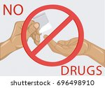 concept without drugs. decline... | Shutterstock .eps vector #696498910
