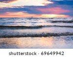 waves twilight nature | Shutterstock . vector #69649942
