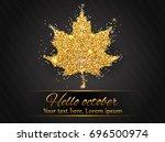 elegant autumn background with...   Shutterstock .eps vector #696500974