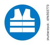 wear high visibility jacket ...   Shutterstock .eps vector #696503773