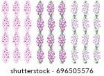 seamless pattern with flowers... | Shutterstock .eps vector #696505576