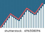 abstract financial chart with... | Shutterstock .eps vector #696508096
