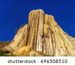 petrified waterfalls  hierve el ...   Shutterstock . vector #696508510