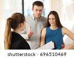 bad real estate agent attending ... | Shutterstock . vector #696510469