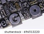 historical letterpress types ... | Shutterstock . vector #696513220