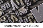 historical letterpress types ... | Shutterstock . vector #696513223