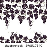 seamless background with vines. ...   Shutterstock .eps vector #696517540