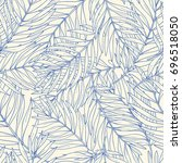seamless pattern with contour... | Shutterstock .eps vector #696518050