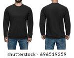 Men In Blank Black Pullover ...