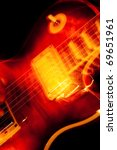 vivid color electric guitar motion blur abstract - stock photo
