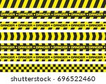 set of warning tapes. for... | Shutterstock . vector #696522460