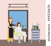 isolated hairdressing salon... | Shutterstock . vector #696526624