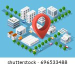 urban area of the city... | Shutterstock .eps vector #696533488