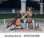 nahariya  israel  august 14 ... | Shutterstock . vector #696536488