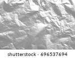 shiny silver foil metal texture ... | Shutterstock . vector #696537694