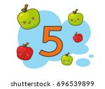 illustration of isolated number ... | Shutterstock .eps vector #696539899