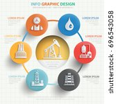 oil industry info graphic... | Shutterstock .eps vector #696543058