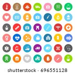 medical icons | Shutterstock .eps vector #696551128