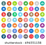 real estate icons | Shutterstock .eps vector #696551158