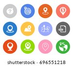 navigation icons | Shutterstock .eps vector #696551218