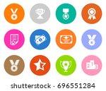 winner icons | Shutterstock .eps vector #696551284
