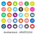 money icons | Shutterstock .eps vector #696551314
