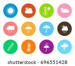 weather icons | Shutterstock .eps vector #696551428