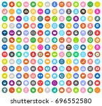business icons | Shutterstock .eps vector #696552580