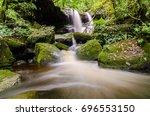 nature landscape of waterfall...   Shutterstock . vector #696553150