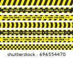 set of warning tapes. for... | Shutterstock . vector #696554470