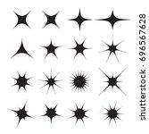star burst vector icon set on... | Shutterstock .eps vector #696567628