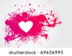 illustration with  pink stain... | Shutterstock .eps vector #69656995