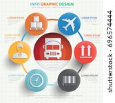 logistic info graphic design... | Shutterstock .eps vector #696574444