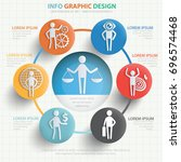 businessman info graphic design ... | Shutterstock .eps vector #696574468