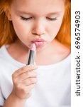 close up view of little... | Shutterstock . vector #696574903