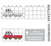 copy the picture using grid... | Shutterstock .eps vector #696577858