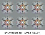 colorful snowflakes for... | Shutterstock . vector #696578194