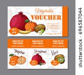 cafe discount voucher for your... | Shutterstock .eps vector #696587044