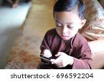 kota kinabalu  sabah malaysia... | Shutterstock . vector #696592204