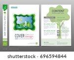 covers book design template... | Shutterstock .eps vector #696594844